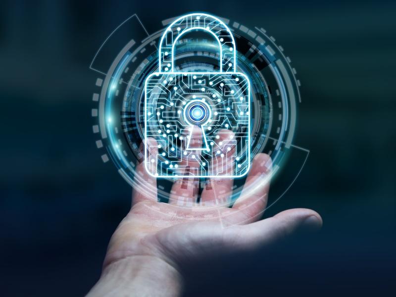 businessman-using-digital-padlock-secure-his-datas-3d-rendering